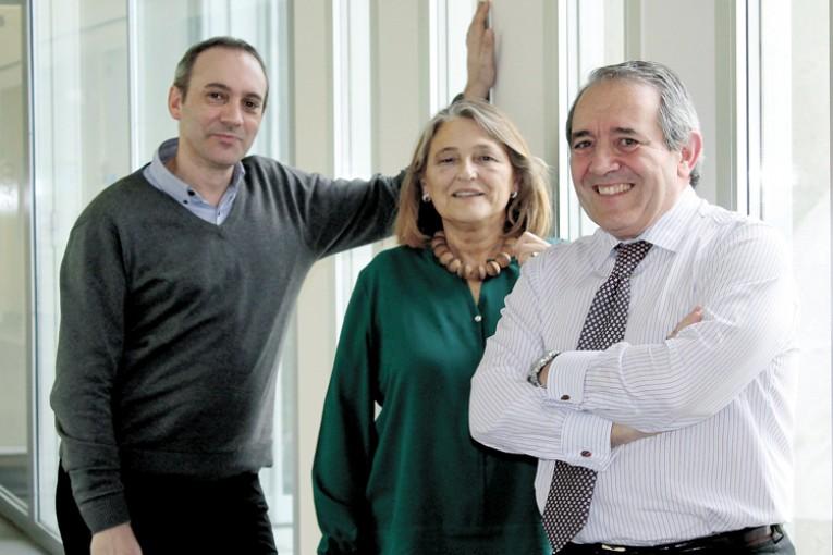 Javier Bahón, Ana Pérez y Antonio López (de izq a dcha.).