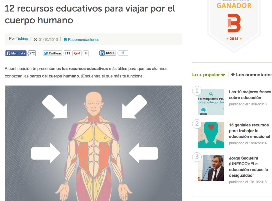 Webs para hacer más atractiva la anatomía humana   Eniac