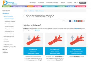 Webs para aprender más sobre la diabetes