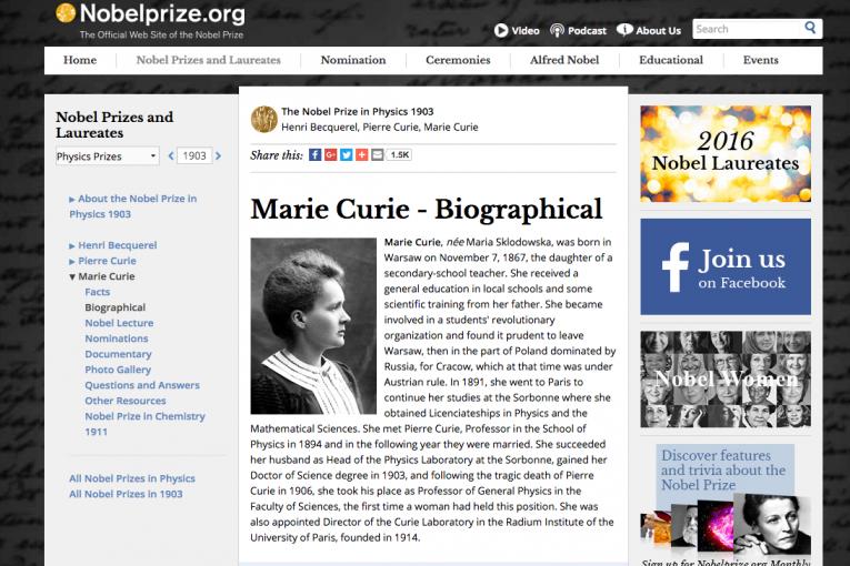 Página NobelPrize